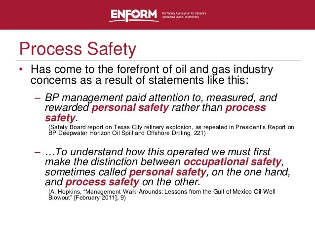 Process Safety in Oil & Gas