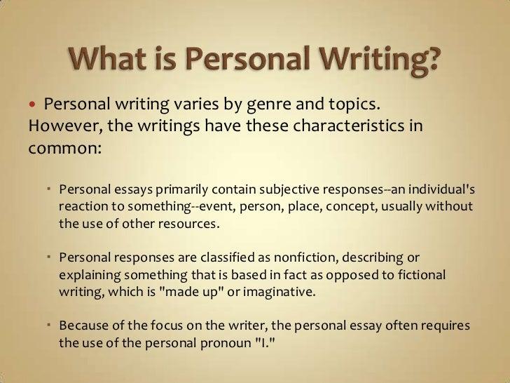 personal essay wikipedia