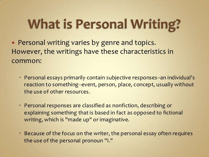 personal writing power point <br > 5 what is personal writing