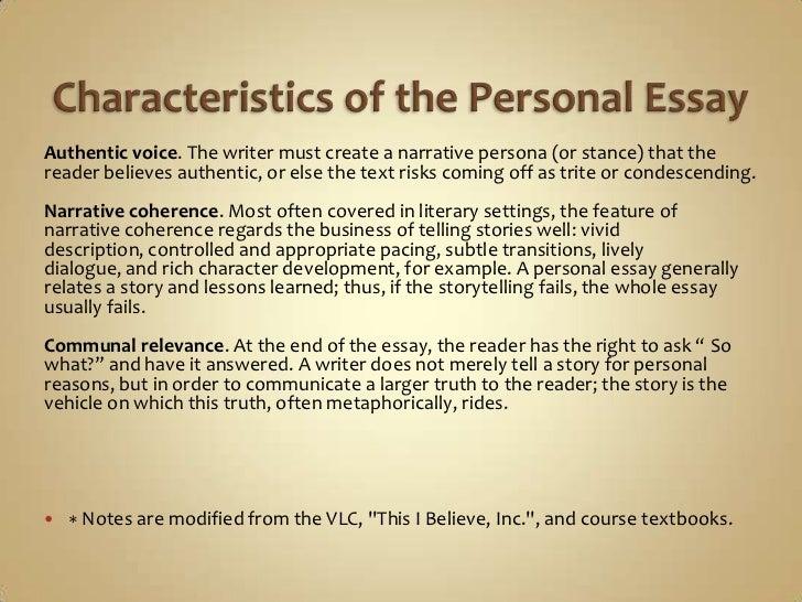 Characteristics Of A Good Narrative Essay