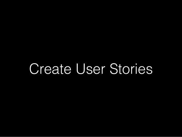 Create User Stories
