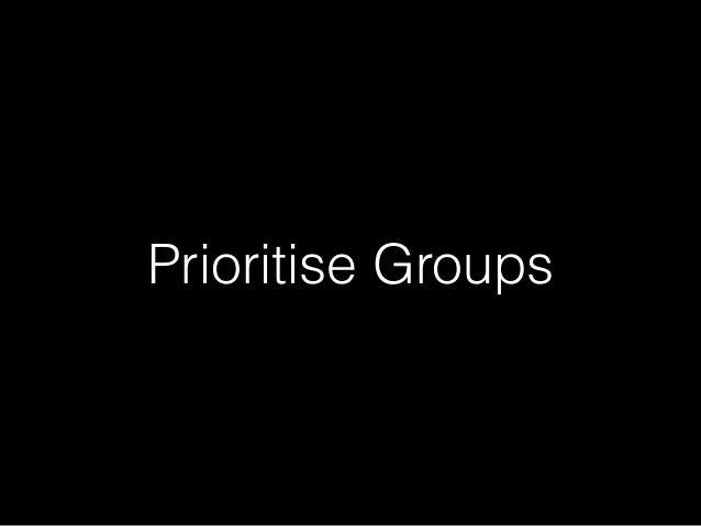 Prioritise Groups
