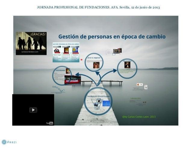JORNADA PROFESIONAL DE FUNDACIONES. AFA. Sevilla, 12 de junio de 2013