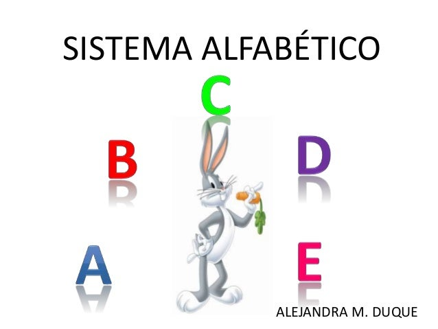 SISTEMA ALFABÉTICO ALEJANDRA M. DUQUE