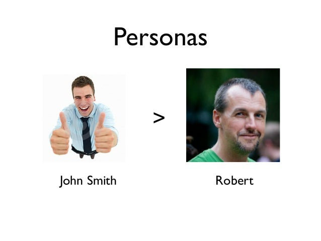 Personas             >John Smith          Robert