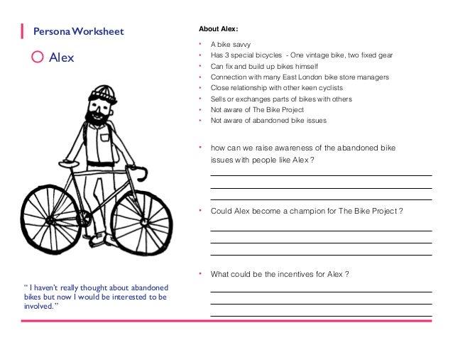 Persona Worksheets Abandoned Bike Project