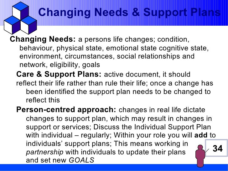 adapt actions and approaches in response to an individual s changing needs or preferences In a complex or sensitive situation 23 adapt actions and approaches in response to an individual's changing needs or preferences an individual refers.