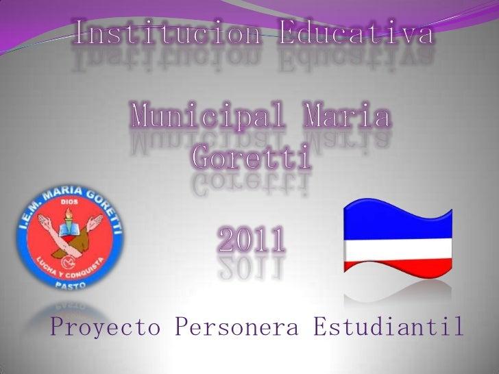 Proyecto Personera Estudiantil