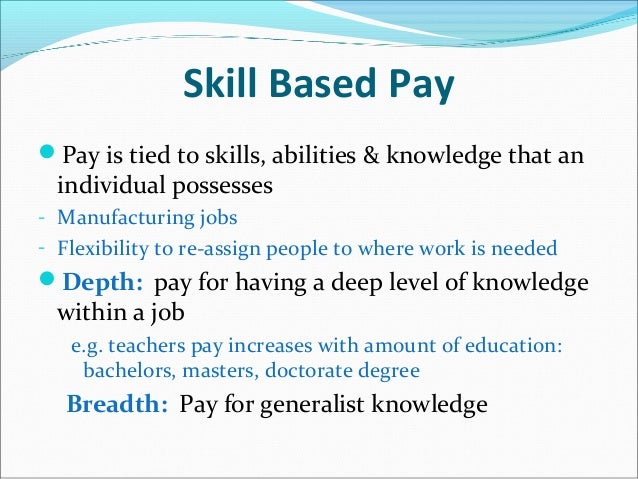 Person-based-pay vs. job-based-pay essay