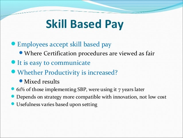 the use of merit pay and incentives as motivators for increased productivity Essay about exploring the possibility of merit pay and incentives as motivators for increased productivity essay about exploring the possibility of.