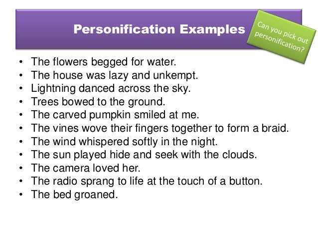 Creative Writing Personification