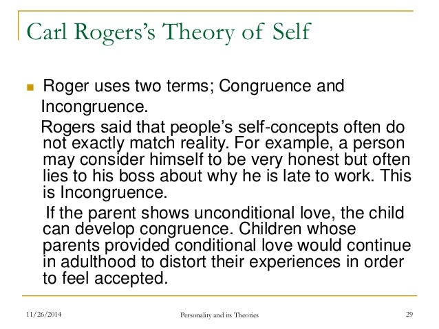 carl rogers self theory Film still of carl rogers in counseling session with gloria  by: carl r rogers   belief that the individual person is the basic unit and that the individual should .
