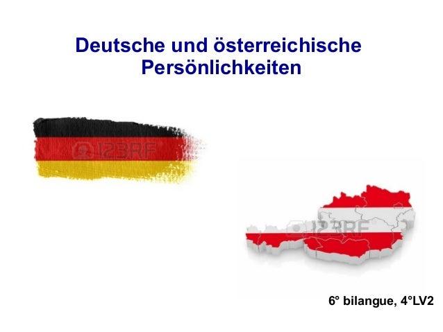 Deutsche und österreichische Persönlichkeiten 6° bilangue, 4°LV2