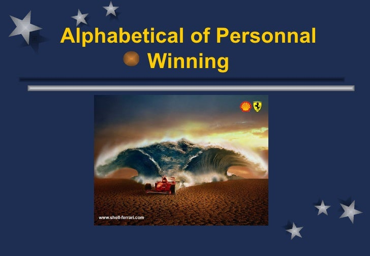 Alphabetical of Personnal        Winning