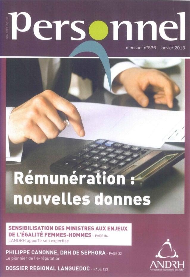 mensuel n°536 |  Janvier 2013         Pers rmel     / / + 4: _~_1  '   Rémunération :   nouvelles-onnes         SENSIBILIS...