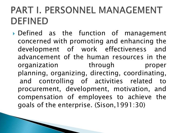 public personnel management pdf