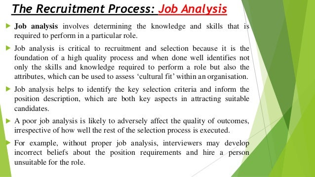 A Critical Analysis of Recruitment and Selection Methods