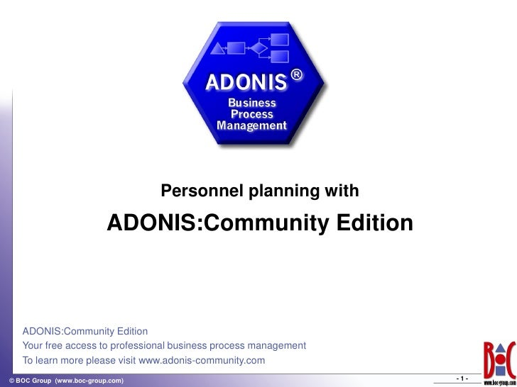 Personnel planning with                           ADONIS:Community Edition       ADONIS:Community Edition    Your free acc...