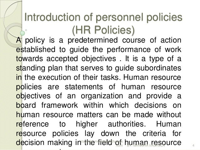 hr personnel policy with special reference to Policies & regulations the human resources policy and procedures manual in addition to this site for hr policies 22 5 conducting an employment reference.