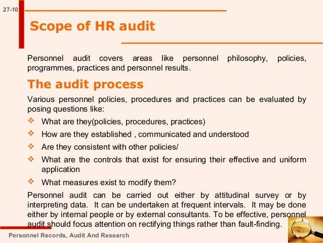 Hr audit with checklist.