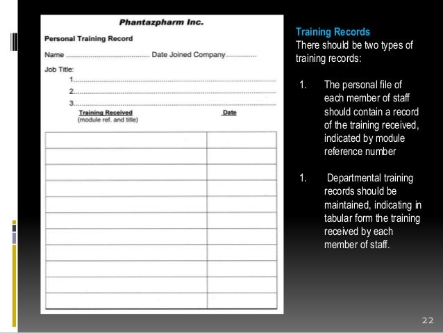 Employee Training Record Form Personnel Validation