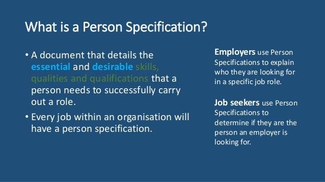 Person specification lesson