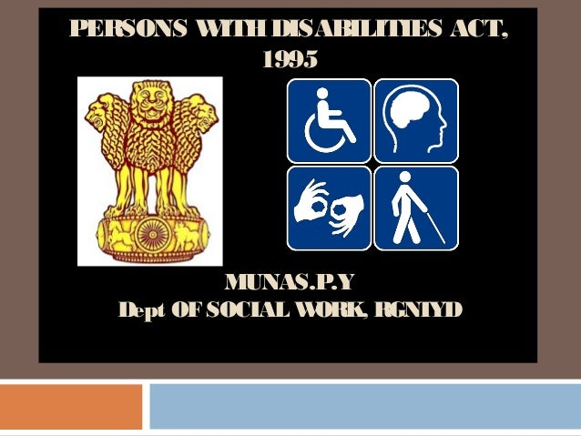 disability act 1995 in hindi pdf