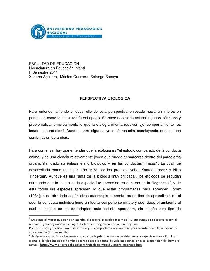FACULTAD DE EDUCACIÓN<br />Licenciatura en Educación Infantil<br />II Semestre 2011<br />Ximena Aguilera,  Mónica Guerrero...