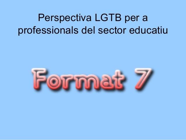 Perspectiva LGTB per a professionals del sector educatiu