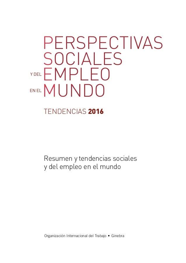 Perspectivas sociales y del Empleo en el Mundo Slide 2