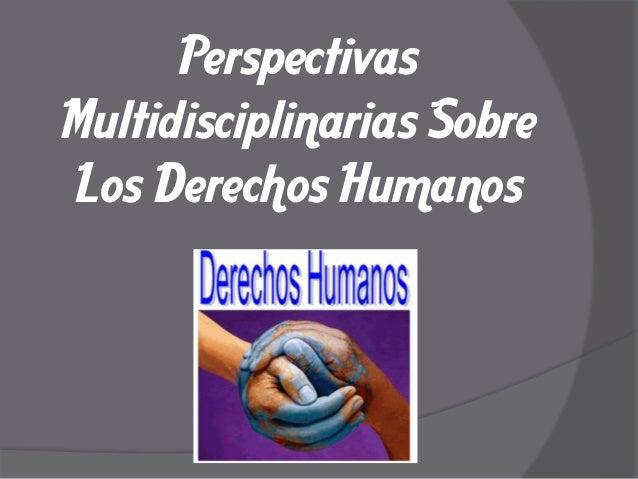 Perspectivas Multidisciplinarias Sobre Los Derechos Humanos