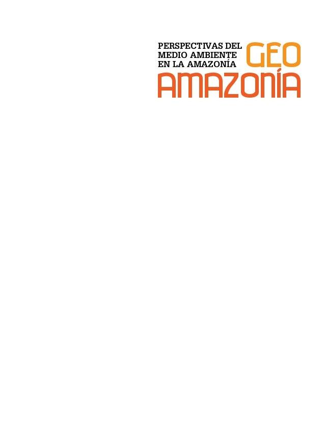 GEO amazonia PERSPECTIVAS DEL MEDIO AMBIENTE EN LA AMAZONÍA