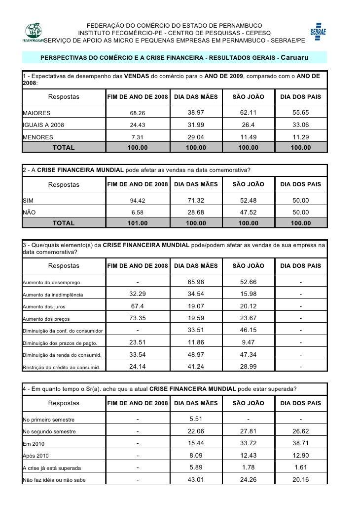 b413ceb7214cd FEDERAÇÃO DO COMÉRCIO DO ESTADO DE PERNAMBUCO INSTITUTO FECOMÉRCIO-PE -  CENTRO DE PESQUISAS ...