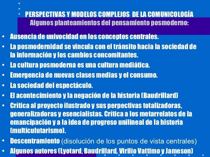 Perspectivas y modelos complejos de la comunicología