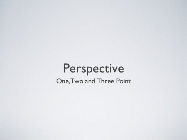 PerspectiveOne,Two and Three Point