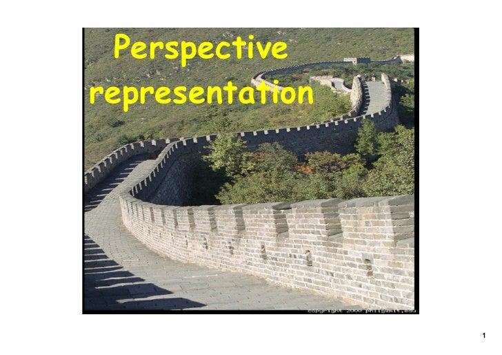 Perspective representation                      1