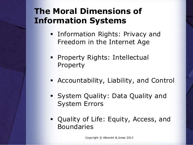 dimensions of information system