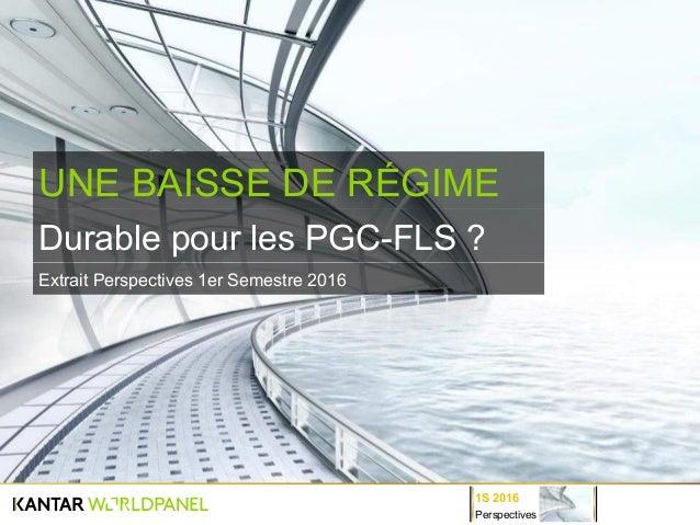 Perspectives 1S 2016 Durable pour les PGC-FLS ? UNE BAISSE DE RÉGIME Extrait Perspectives 1er Semestre 2016