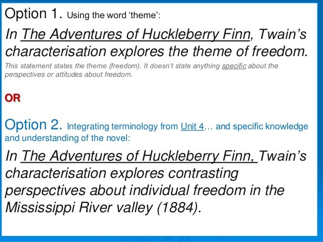 freedom in huck finn