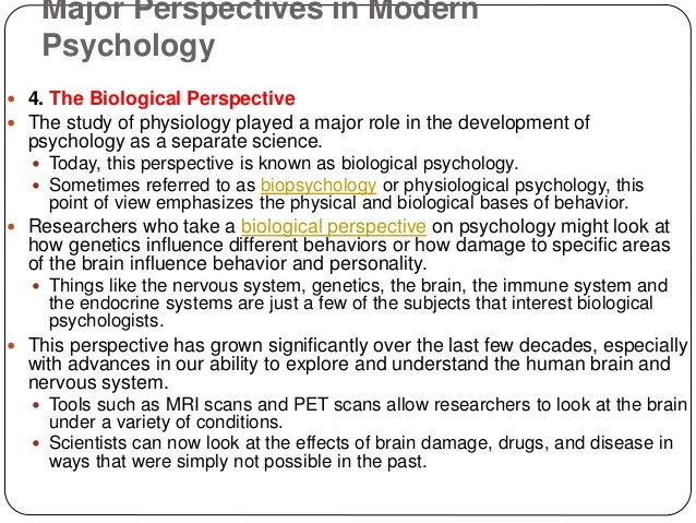 7 perspectives in psychology