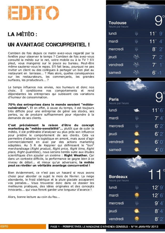 Perspectives n°14   janv-févr 2013 - athénéa conseils Slide 2