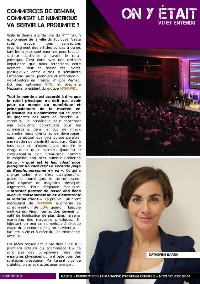 Perspectives n°23   novembre - décembre 2014 - athénéa conseils Slide 3