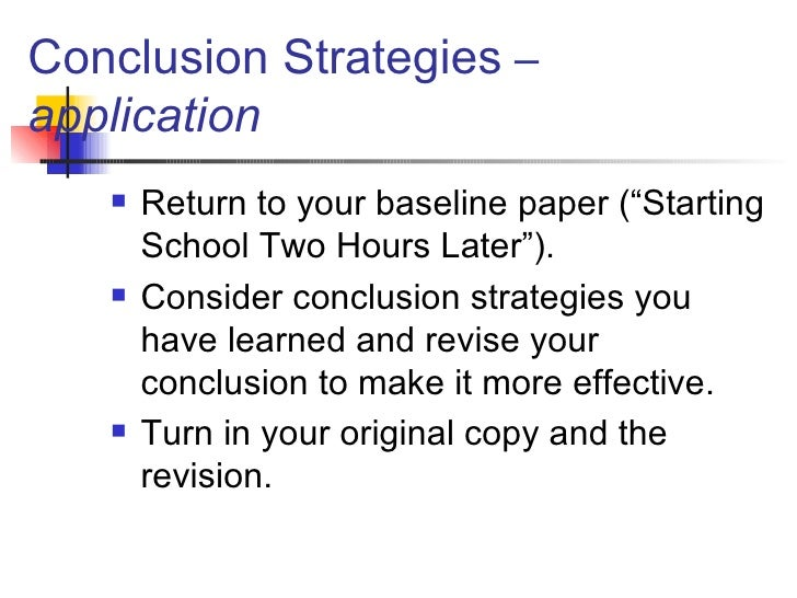 Why do you need essay conclusions?