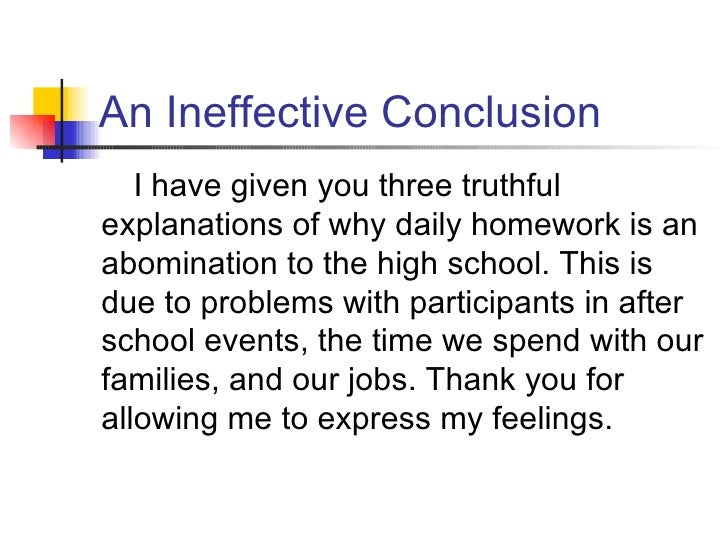 5 an ineffective conclusion - Conclusion Of Essay Example