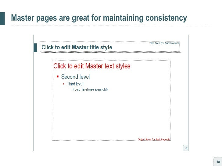 Master pages are great for maintaining consistency
