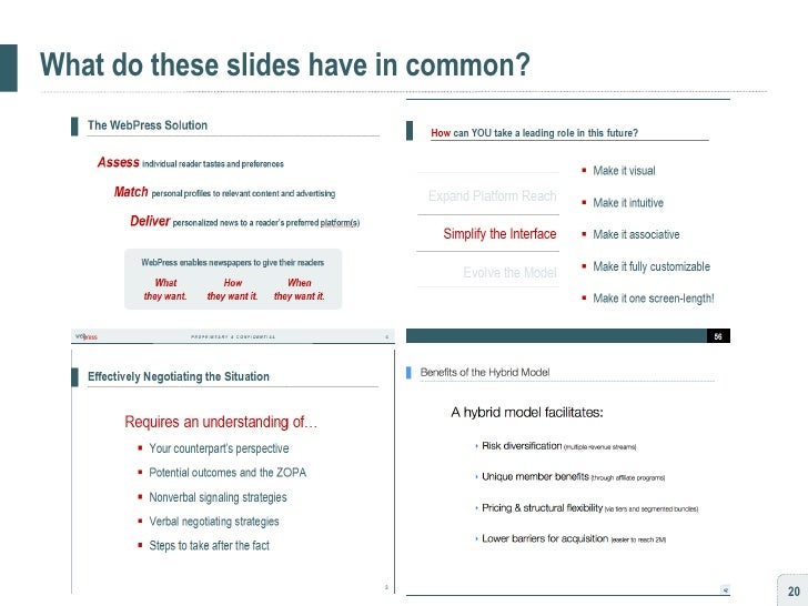 What do these slides have in common?