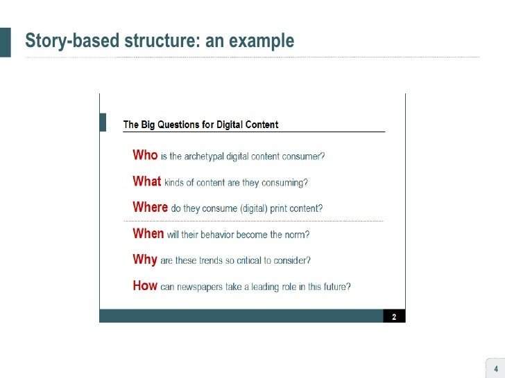 Story-based structure: an example