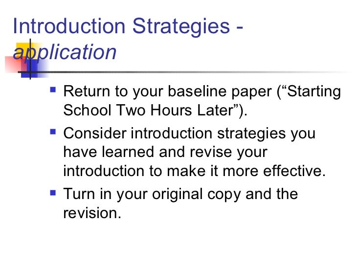 ways to start off an essay introduction