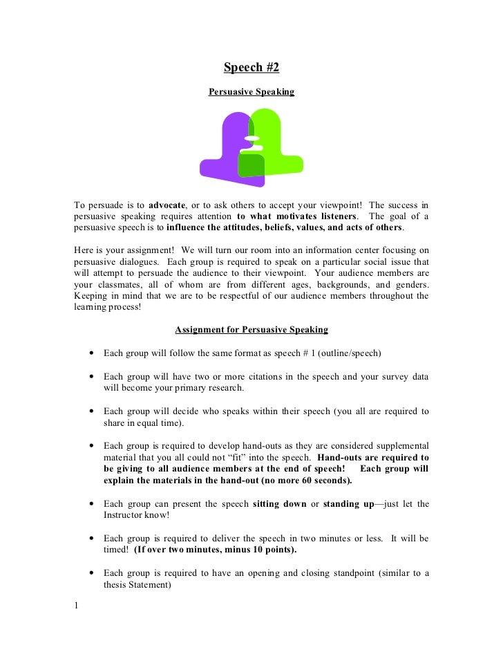 Persuaive Speaking Outline 2012