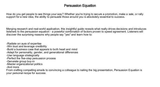 Persuasion Stream